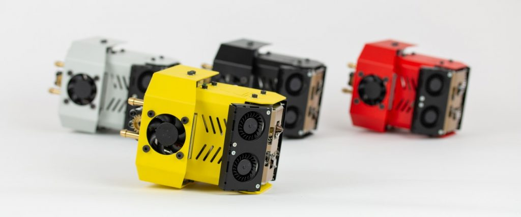 Interchangeable modules in 3DGence INDUSTRY F340 enable 3D printing with wide range of materials.