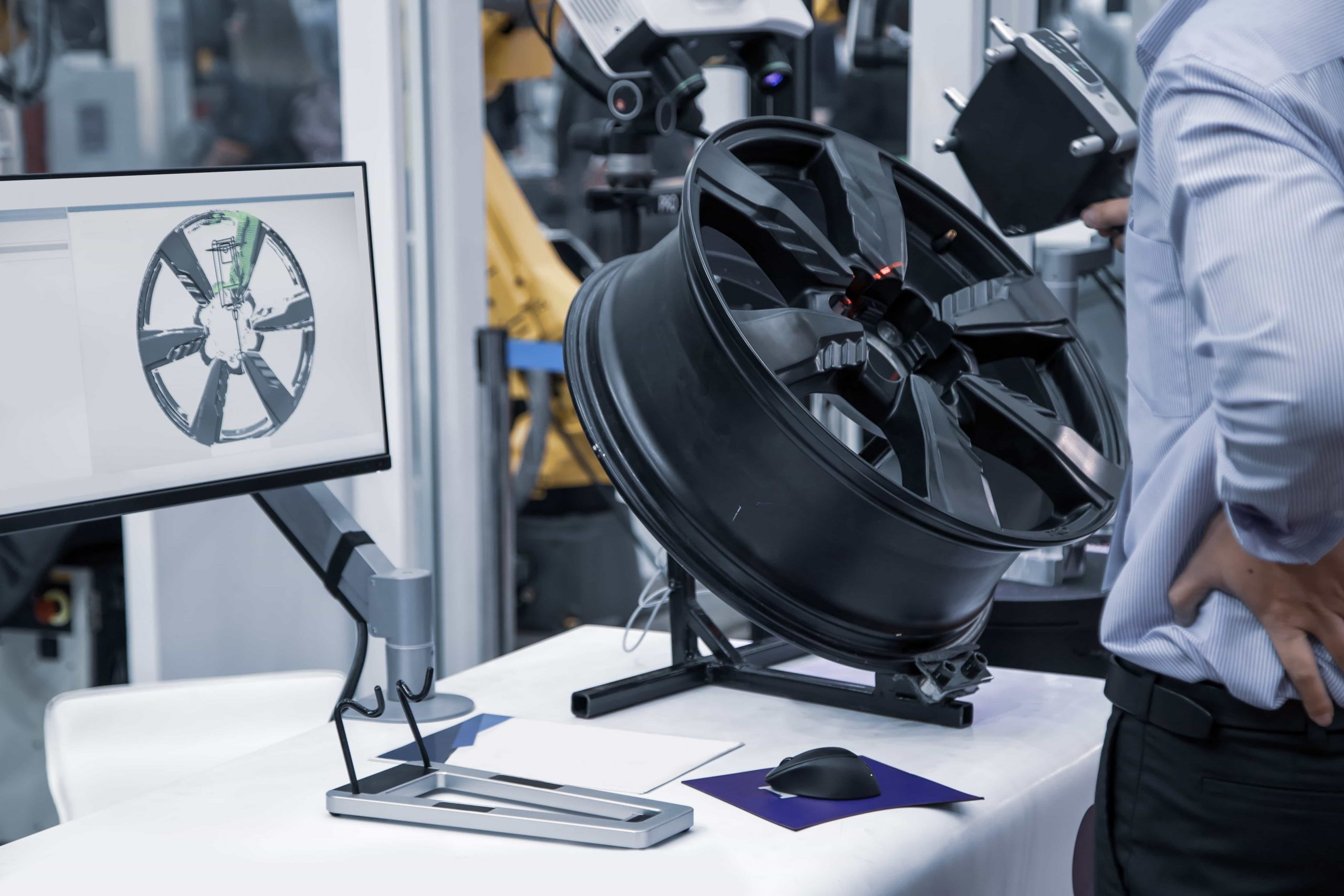 3D scanning of car alloy wheel