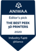 Aniwaa The Best PEEK 3D Prntersbadge
