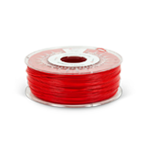 Red ABS filament on a spool